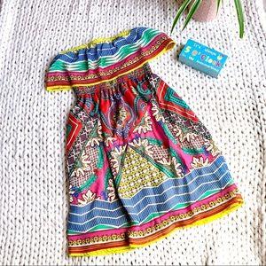 Flying Tomato Ruffle Tube Dress Size M